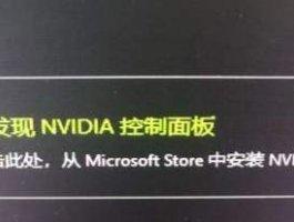安装NVIDIA驱动后没有控制面板